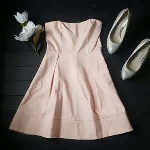 Anthropologie Pink Strapless dress